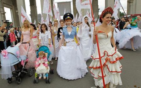 Russian Bride Parade To 59